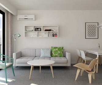 两室两厅现代极简风格