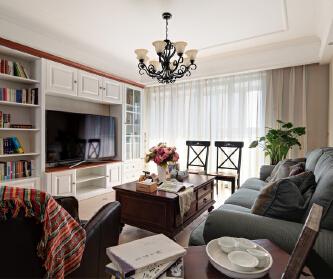 139平美式三居室,恬淡...