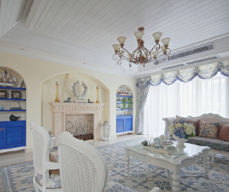 地中海风格--三室两厅