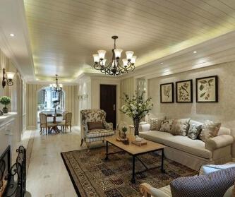 131平美式风格家装设计...