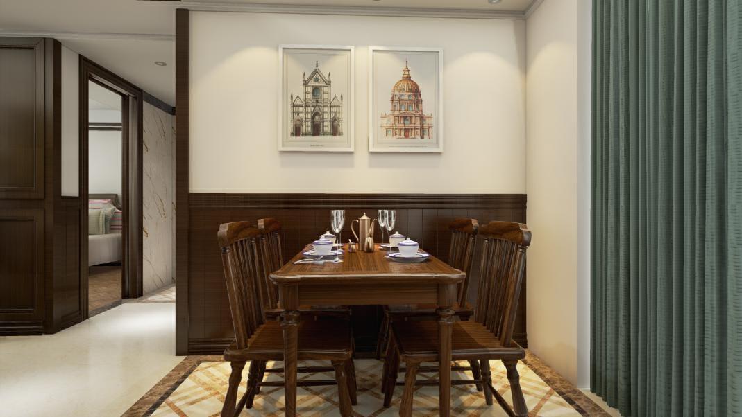 餐厅的设计是经典的美式田园的风格,有着推崇自然、结合自然,在室内环境中力求表现悠闲、舒畅、自然的田园生活情趣,创造了自然、简朴、高雅的用餐氛围。森盛家具舒美系列,主材采用美国进口白蜡木,所有异型部件都是实木基材,所有面板都是实木框边。,餐厅,