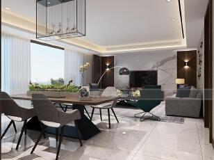 看腻了欧式的厚重繁华,三居室体验别墅级的现代风装修!