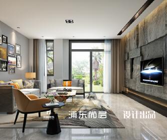 上海自建别墅 现代工业风...