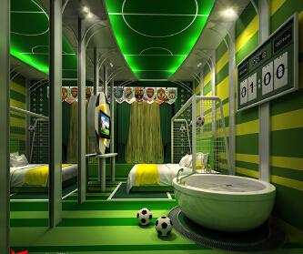 主题酒店设计-足球主题房...