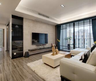 二居室现代轻奢风格案例 ...