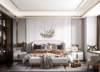 卧室轻奢的美