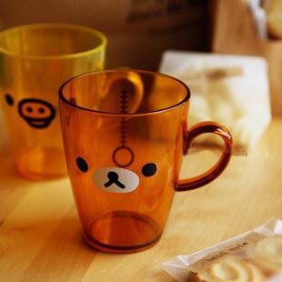 特价可爱创意日本轻松熊亚克力情侣漱口杯刷牙杯 杯子 水杯 茶杯,