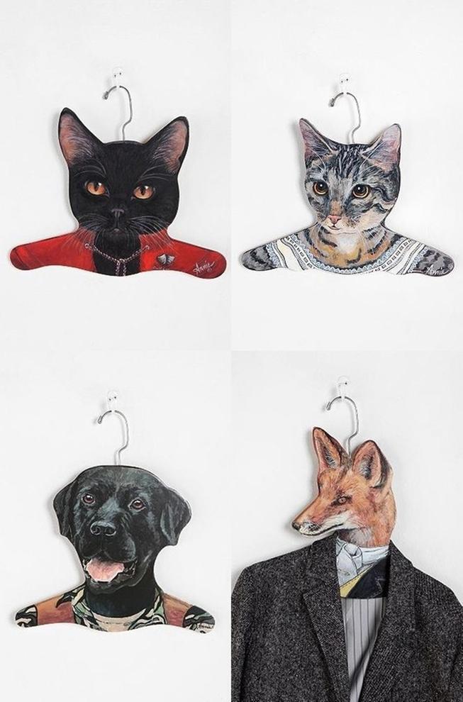 美国代购 urban outfitters 创意家居 超帅动物头像衣架 美国制,