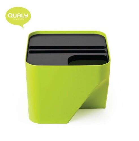 代购 QUALY 创意垃圾桶/可任意折叠组合式垃圾桶/20L/四色可选,