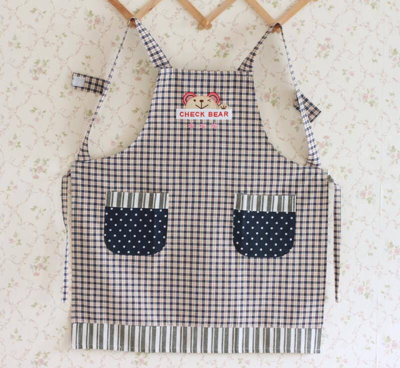 9607*全棉帆布 时尚围裙  居家围裙 厨房围裙 (三色入),