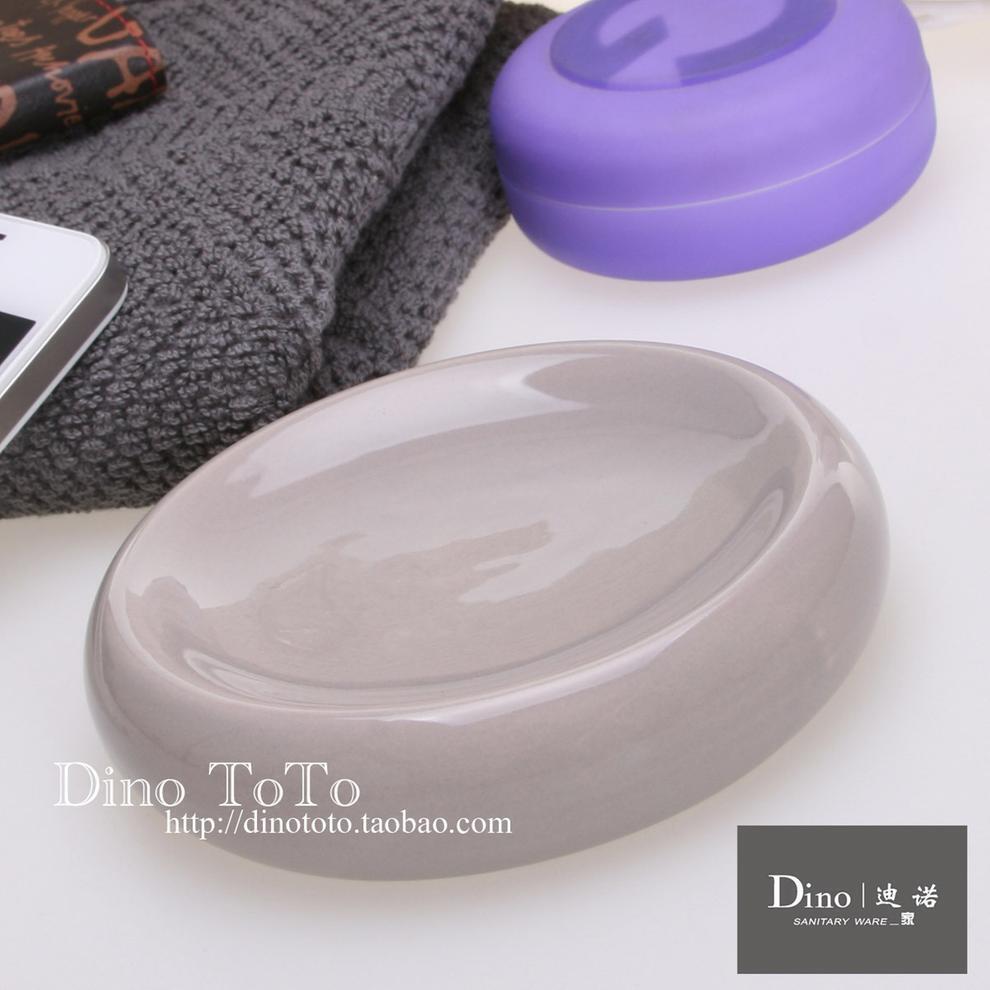 简约浅灰特色 外单陶瓷卫浴配件洗漱用品具肥皂香盒碟子 现货实拍,