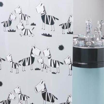 【欧洲时尚卫浴】瑞士LEIFHEIT正品时尚环保黑白斑马防水浴帘包邮,