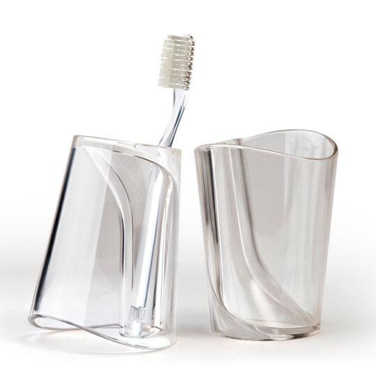 泰国QUALY漱摇杯/漱口杯/刷牙杯/牙刷架 白色透明 市场价98元,