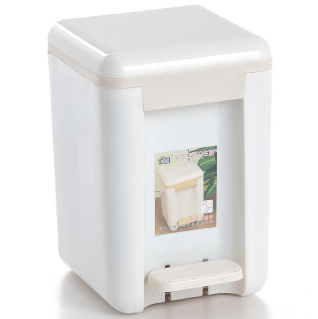 欧式风格 家用厨卫垃圾桶 豪华立体脚踏垃圾桶 收纳桶 酒店办公8L,浴室储物,
