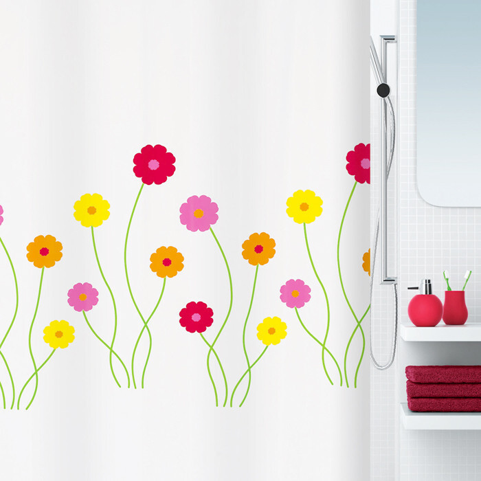 瑞士品牌spirella Flora田园小花 加厚创意涤纶防水浴帘 2012新品,