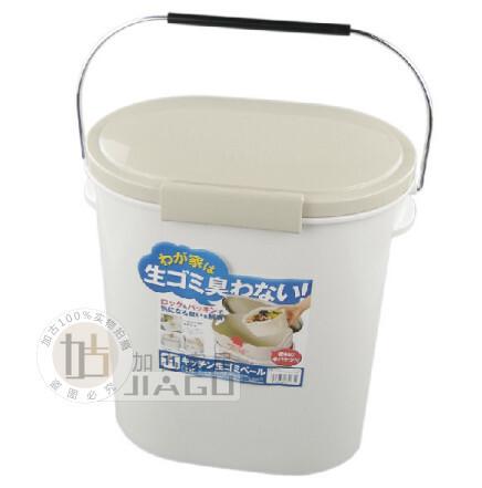 日本ASVEL带盖双层时尚垃圾桶 家用收纳桶厨房杂物桶11L 32631,浴室储物,
