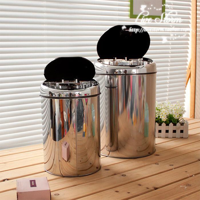 生活风 电子不锈钢感应垃圾桶正品 含内筒 专利 4L/9L/15L,