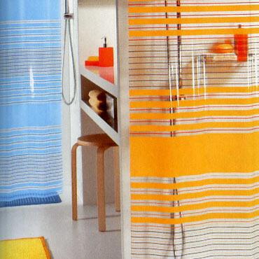 【瑞士品牌Spirella 】PVC浴帘(限时促销)*蓝色横纹10.08178,