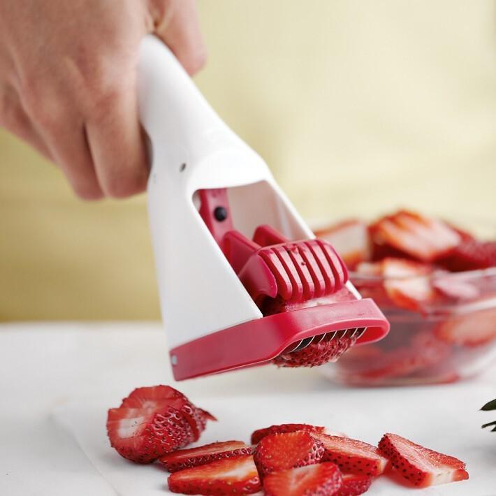 美式厨房必备 草莓切片器,厨房工具,