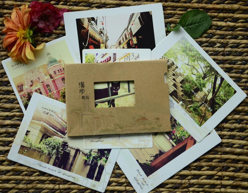 【纸品的美好】漫步青岛·原创明信片作品,地中海风情,DIY,