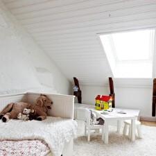 冬日·暮雪中的儿童房