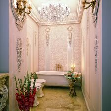 华丽高贵的新古典浴室