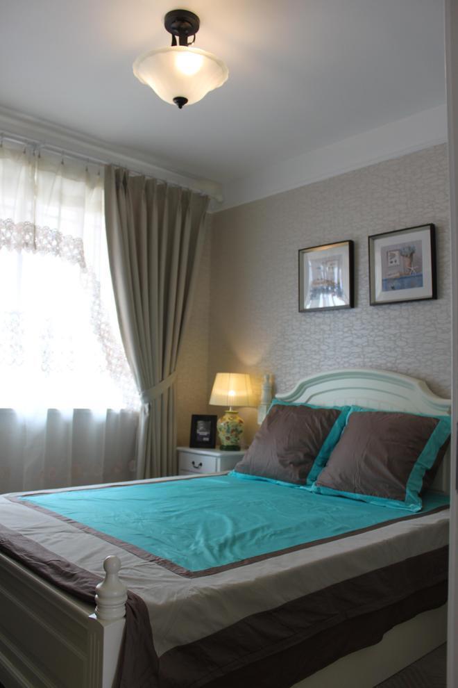 温馨大气的卧室,床品也是关键噢,颜色上和壁画是有呼应的。,卧室,