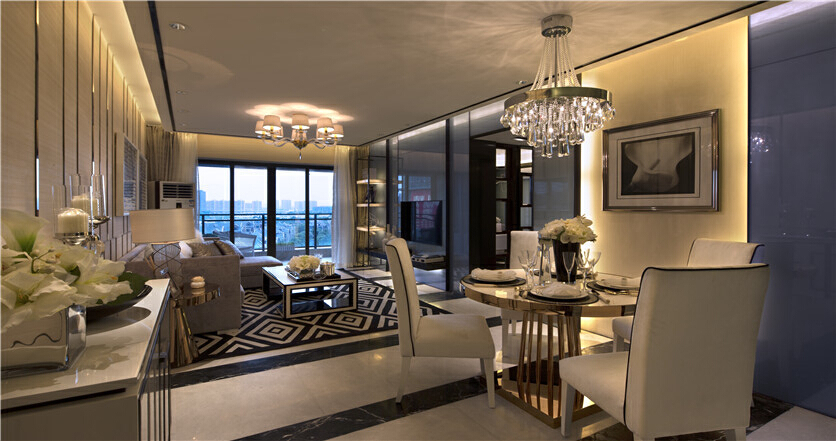 广州保利西海岸 98平三居室现代风格