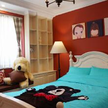 儿童房~大爱的流口水呀,大胆用了饱和度比较低的红色,其实红色是有助于睡眠的颜色噢~
