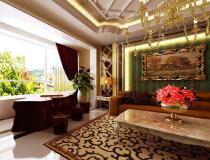 广州金地国际——200平欧式风格三居室