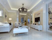 13万打造125平简约欧式风格三居室