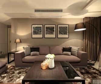 海逸公寓87平两居室现代...