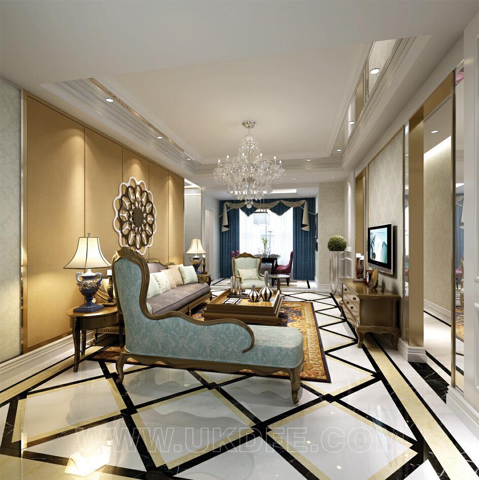 天之府时代豪庭143平三居室欧式风格