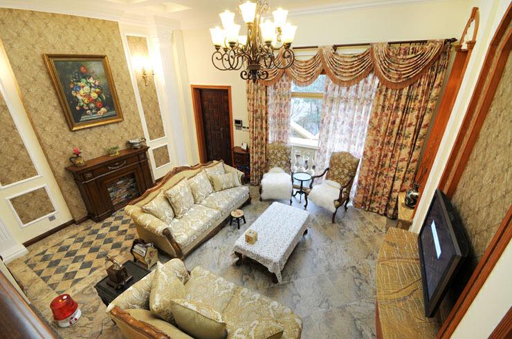 大华颐和华城 美式风格别墅装修案例