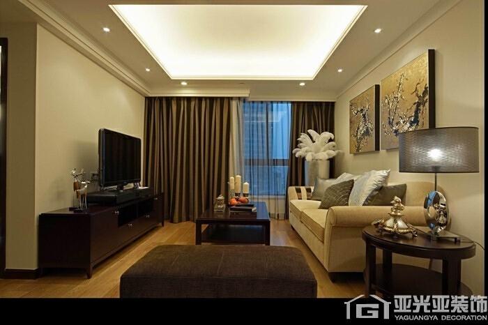 长阳国际城90平两居室现代简约风格