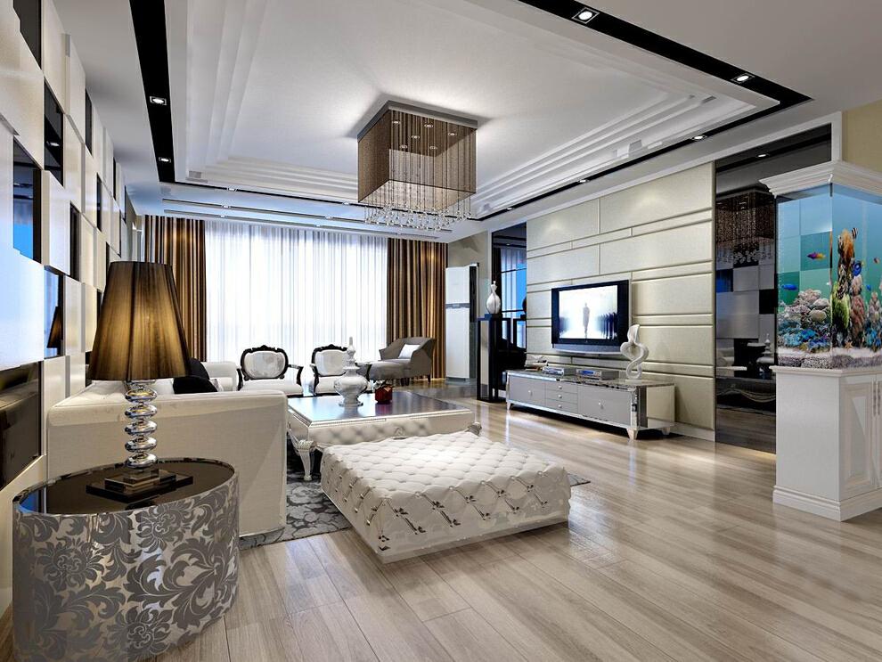 20万打造165平三居室现代风格