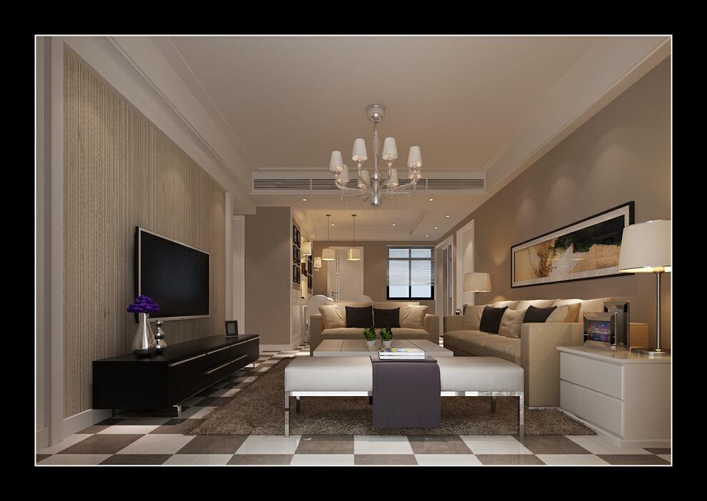 润和.紫庭花园118平三居室现代风格