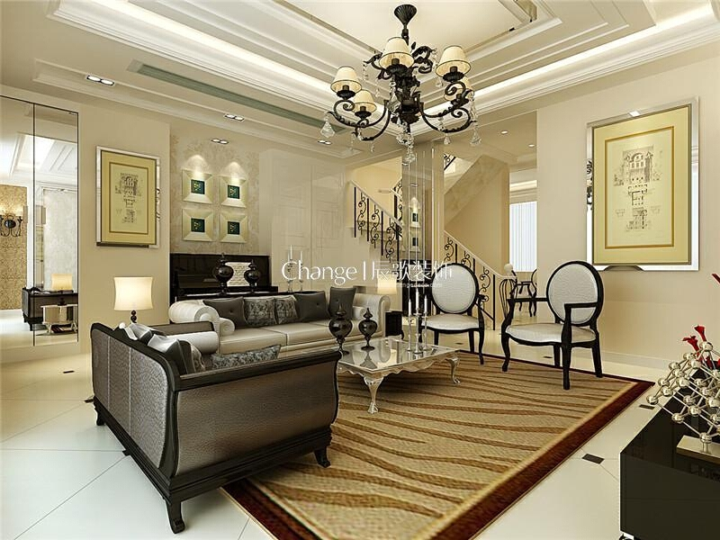,350平,70万,新古典,别墅,