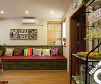 清新绿色系60平小两房