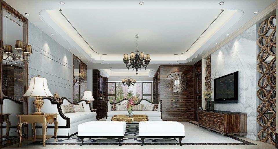 ,效果图,客厅,15万,新古典,158平,