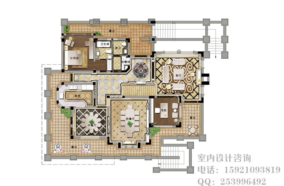 ,360.0平,10.0万,效果图,别墅,新古典,