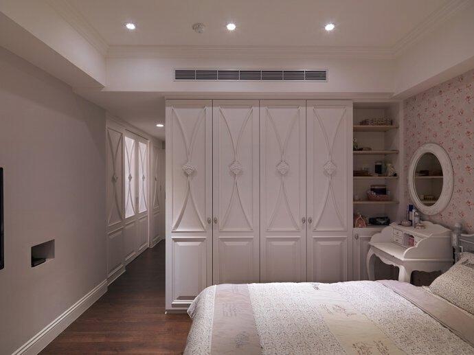 这个衣柜门。。。,138平,18万,田园,三居,卧室,