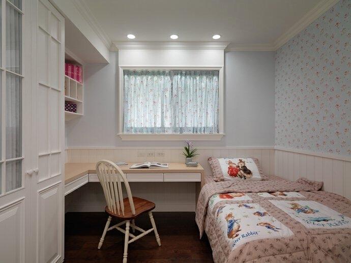 儿童房,138平,18万,田园,三居,卧室,