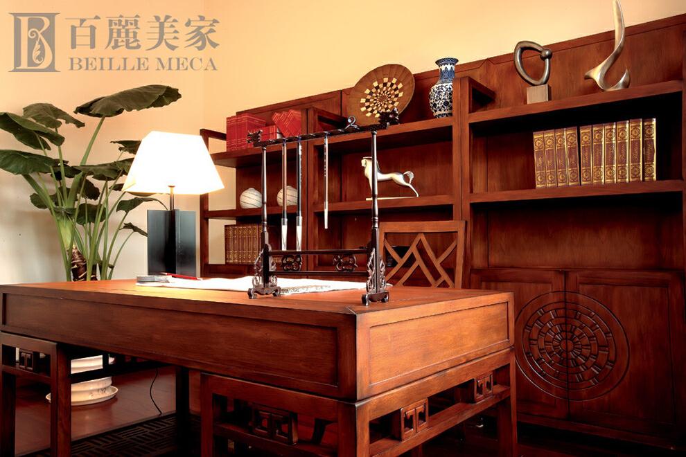 ,书房,原木色,中式,