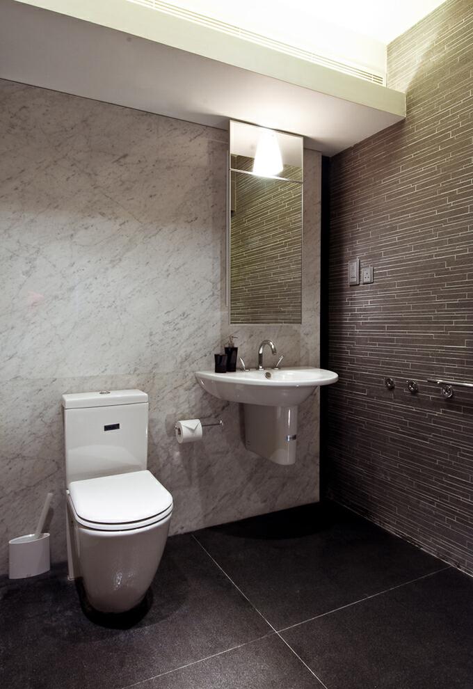 ,卫生间,黑白,现代,