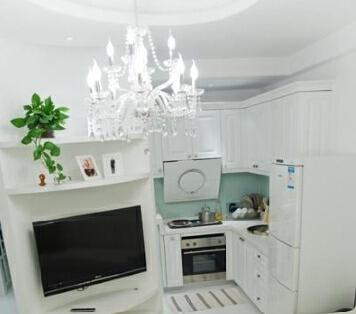 ,小户型,简约,白色,厨房,75万,150平,现代,
