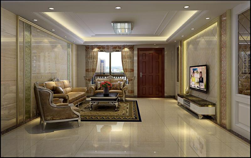,效果图,混搭,160平,四居,客厅,16万,