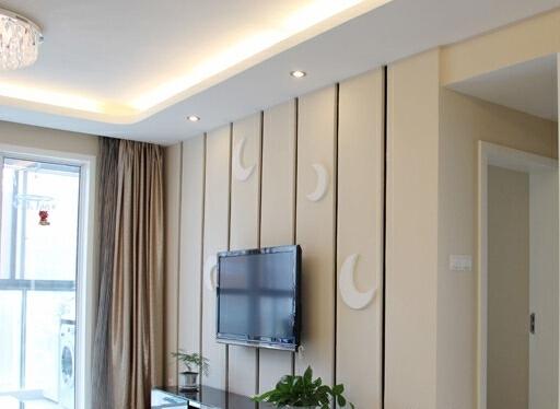 ,110平,12万,小户型,现代,客厅,白色,