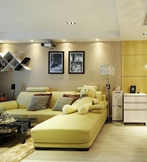 ,98平,白色,10万,小户型,客厅,现代,