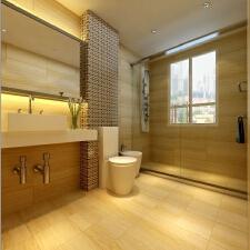 暖色系卫浴,让你的沐浴更温暖